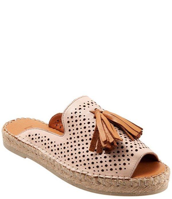 ブエノ レディース サンダル シューズ Navar Perforated Leather Tasseled Espadrille Slides Pale Pink
