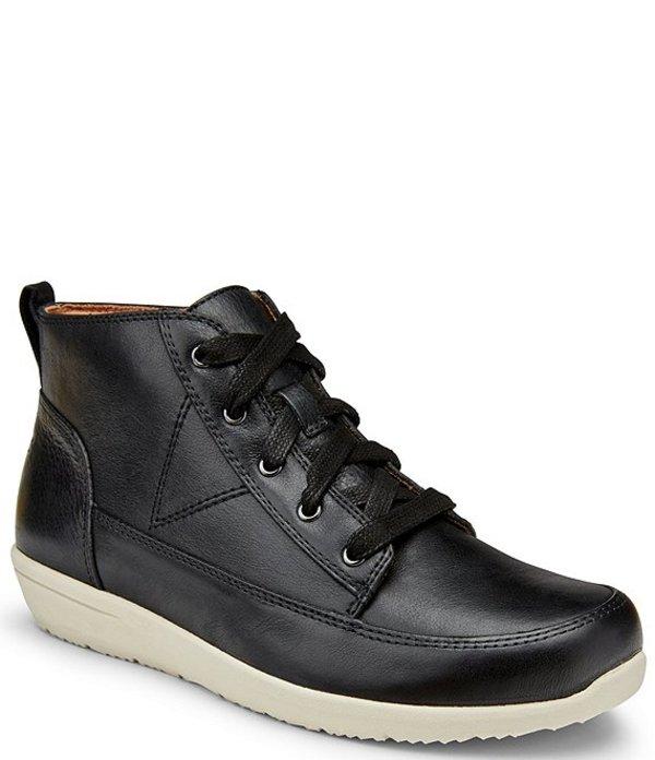 バイオニック レディース ブーツ・レインブーツ シューズ Shawna Water Resistant Leather Sneaker Booties Black