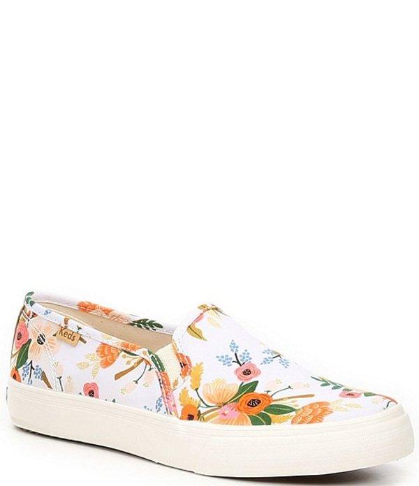 ケッズ レディース スニーカー シューズ Rifle Paper Co. Double Decker Lively Floral Sneakers White Multi