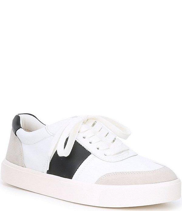 サムエデルマン レディース スニーカー シューズ Enna Leather and Suede Colorblock Sneakers White/Black/Greige