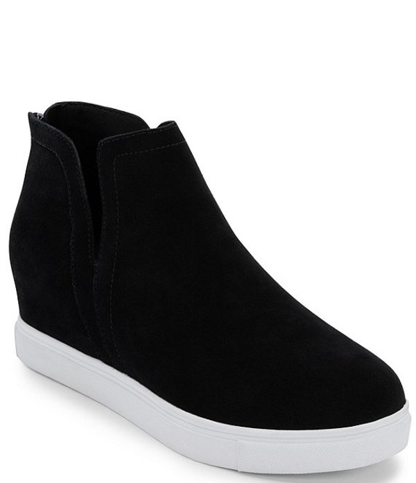 ブロンド レディース スニーカー シューズ Genna Waterproof Suede Wedge Sneakers Black Suede