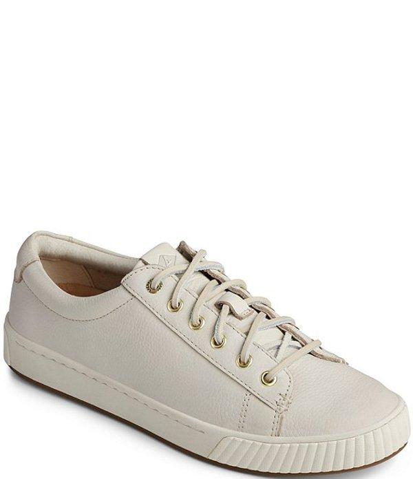 スペリー レディース スニーカー シューズ Women's Anchor Plushwave Leather Sneakers Birch