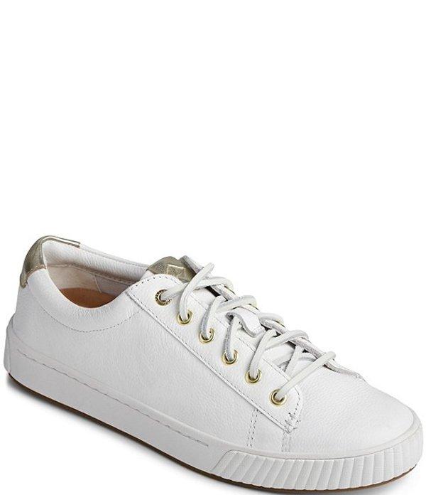 スペリー レディース スニーカー シューズ Women's Anchor Plushwave Leather Sneakers White