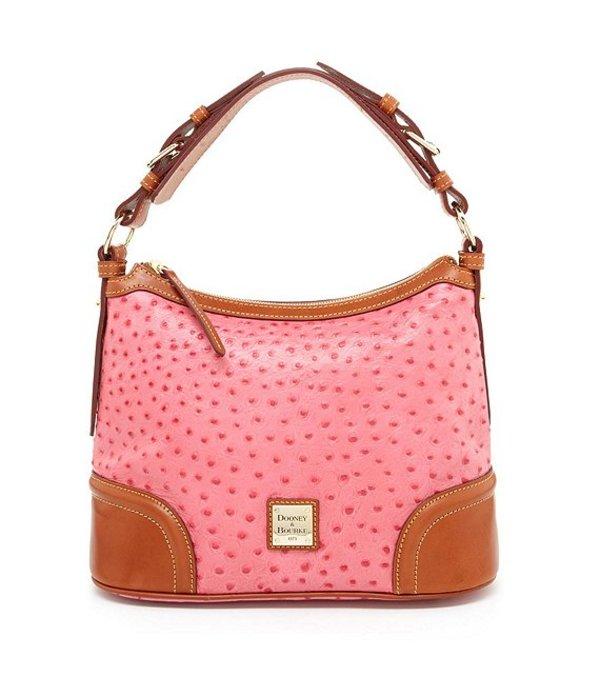 ドーネイアンドバーク レディース ショルダーバッグ バッグ Ostrich Collection Hobo Colorblock Bag Hot Pink