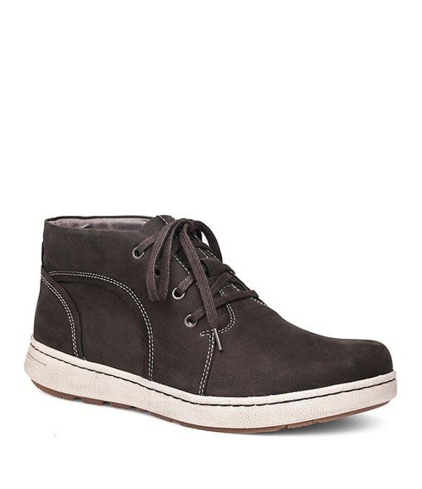 ダンスコ メンズ スニーカー シューズ Men's Virgil Water Resistant Suede Lace Up Shoes Black