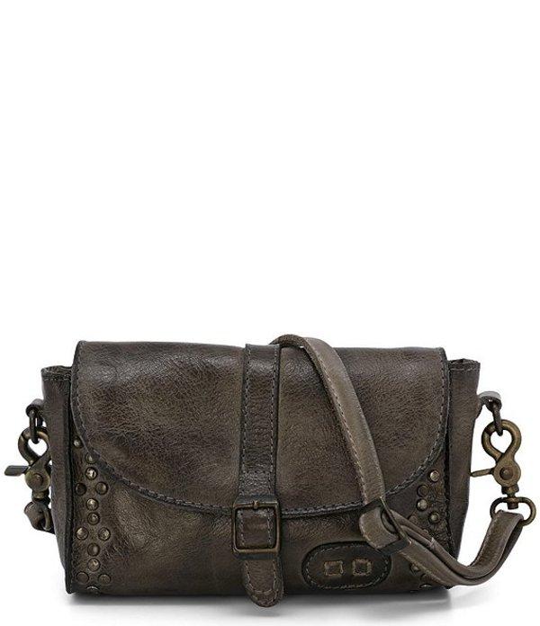 ベッドステュ レディース ショルダーバッグ バッグ Meg Leather Studded Foldover Buckle Convertible Crossbody Belt Bag Taupe Rustic