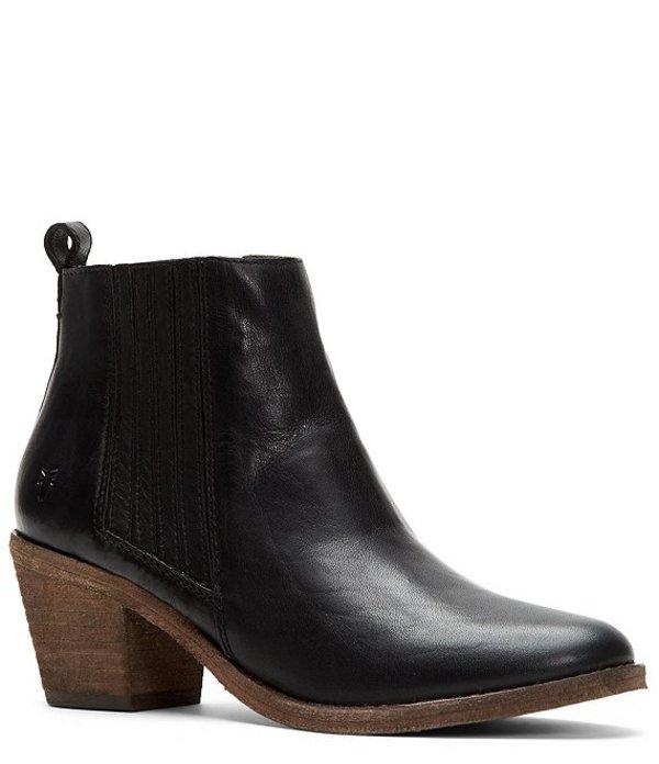 フライ レディース ブーツ・レインブーツ シューズ Alton Chelsea Leather Block Heel Booties Black