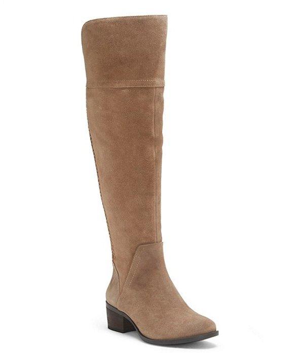 ヴィンスカムート レディース ブーツ・レインブーツ シューズ Bendra Suede Over-the-Knee Riding Boots Taupe