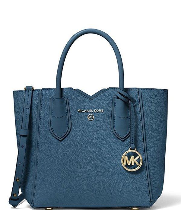 マイケルコース レディース ショルダーバッグ バッグ MICHAEL Michael Kors Mae Leather Small Messenger Crossbody Bag Dark Chambray