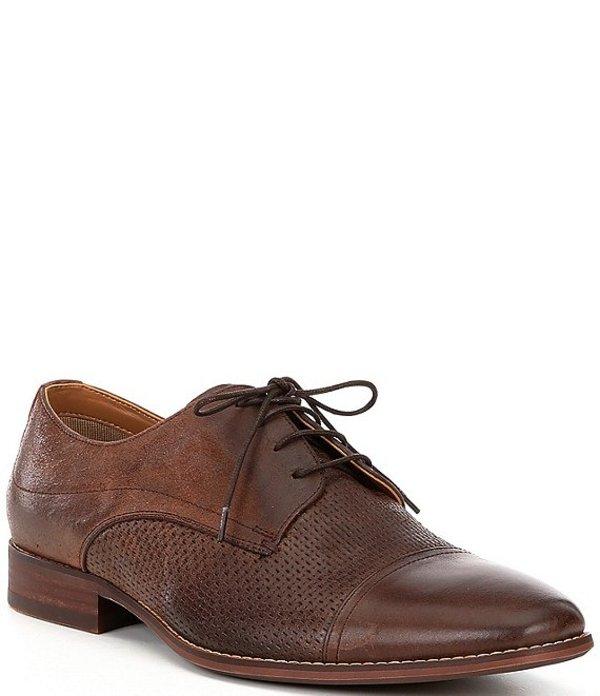 スティーブ マデン メンズ ドレスシューズ シューズ Men's Desmond Leather Cap Toe Oxfords Brown Leather