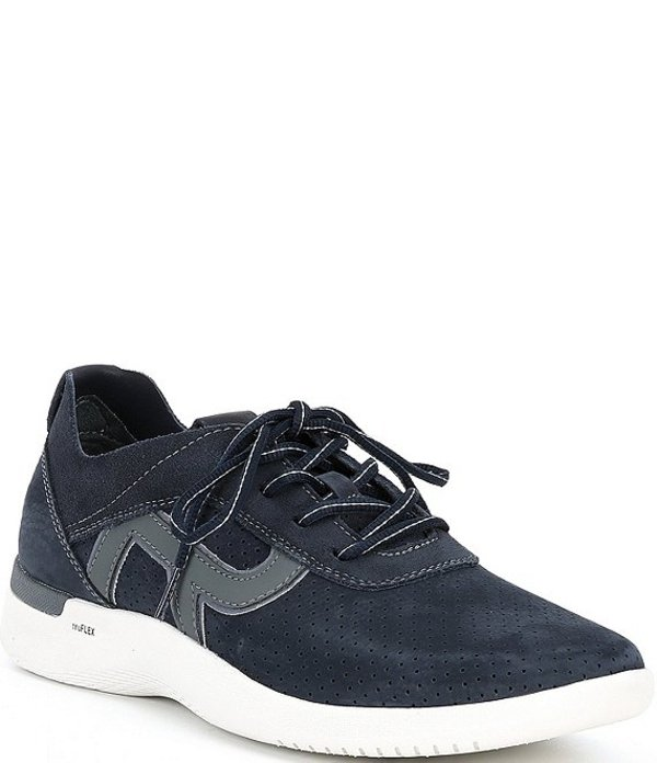 ロックポート メンズ スニーカー シューズ Men's Truflex M Fly Ubal Leather Sneakers New Dress Blues