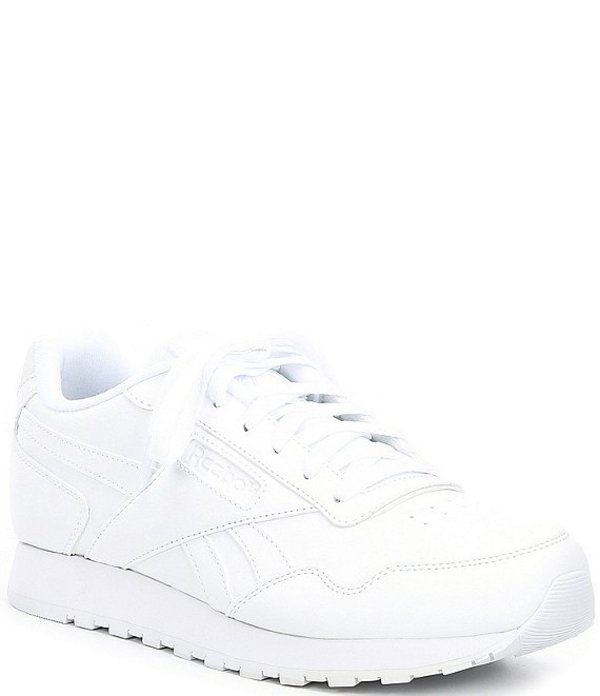 リーボック メンズ スニーカー シューズ Men's Classic Harman Run Lifestyle Shoes White/White/White