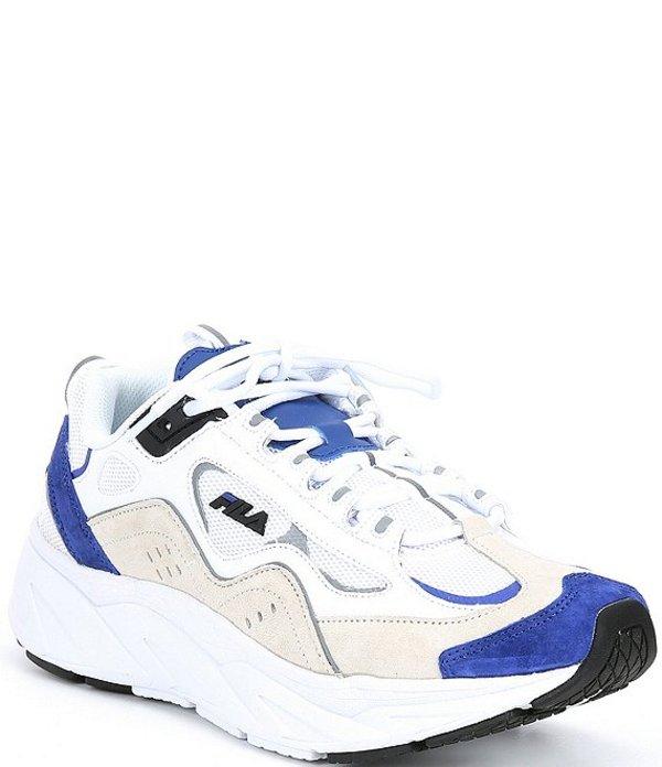 フィラ メンズ スニーカー シューズ Men's Trigate Colorblock Lifestyle Shoes White/Mazarine Blue/Metallic Silver