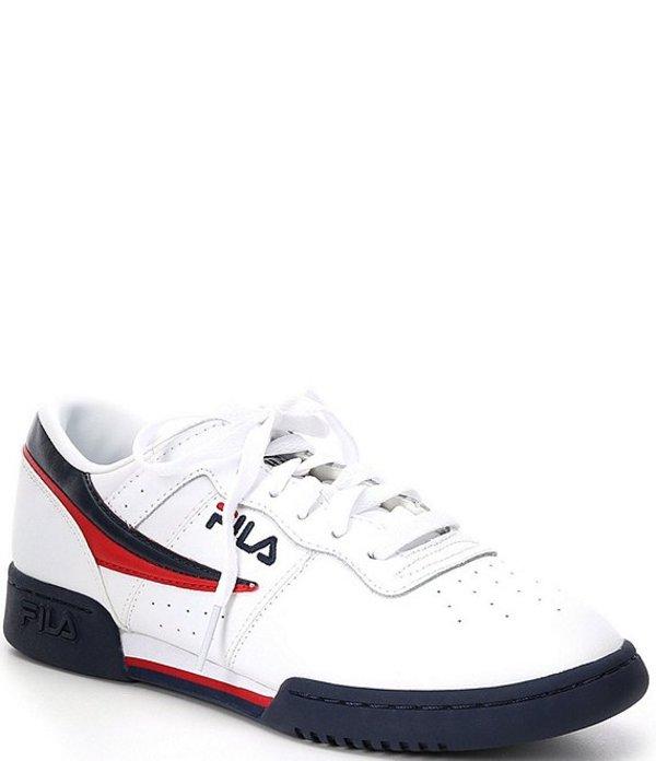 フィラ メンズ スニーカー シューズ Men's Original Fitness Lifestyle Shoes White/FILA Navy/FILA Red