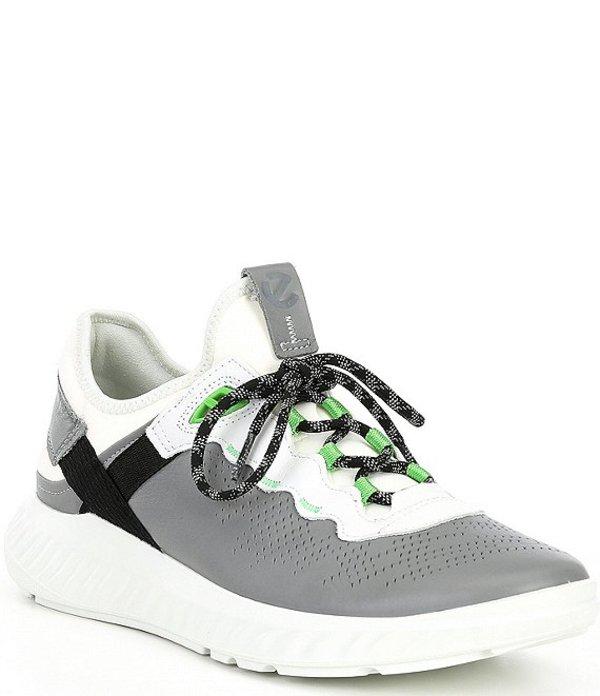 エコー メンズ スニーカー シューズ Men's St. 1 Light Leather Sneaker Wild Dove/White