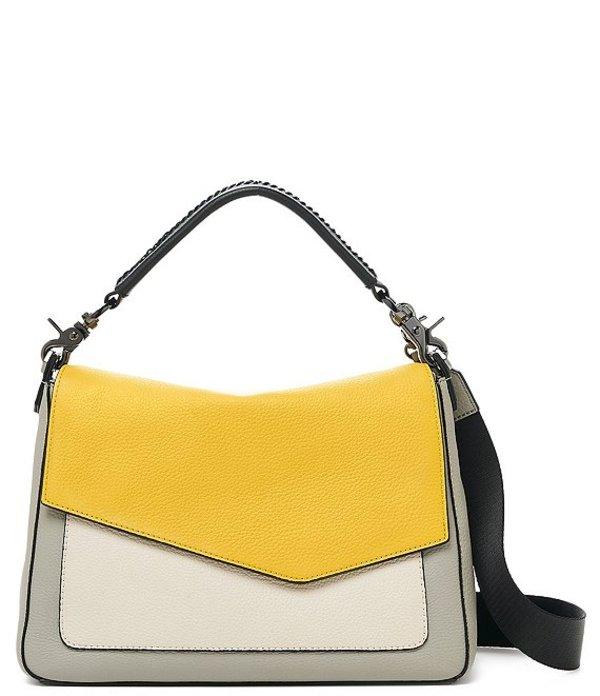 ボトキエ レディース ショルダーバッグ バッグ Cobble Hill Soft Pebble Leather Colorblock Gunmetal Snap Flap Mini Hobo Bag Marigold/Multi