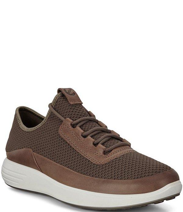 エコー メンズ スニーカー シューズ Men's Soft 7 Lace-Up Runner Summer Sneaker Dark Clay/Dark Clay