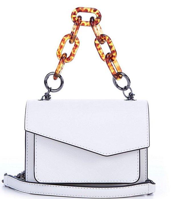 ボトキエ レディース ショルダーバッグ バッグ Cobble Hill Mini Detachable Chain Handle Saffiano Leather Crossbody Bag Marshmallow