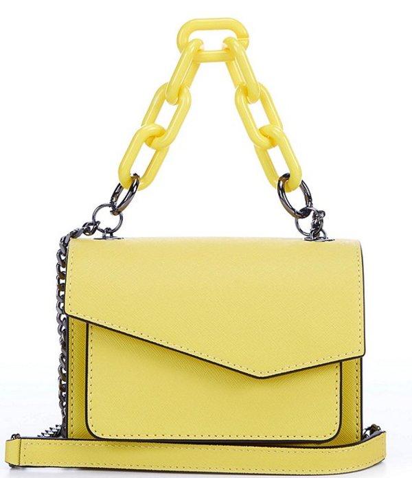 ボトキエ レディース ショルダーバッグ バッグ Cobble Hill Mini Detachable Chain Handle Saffiano Leather Crossbody Bag Sunburst