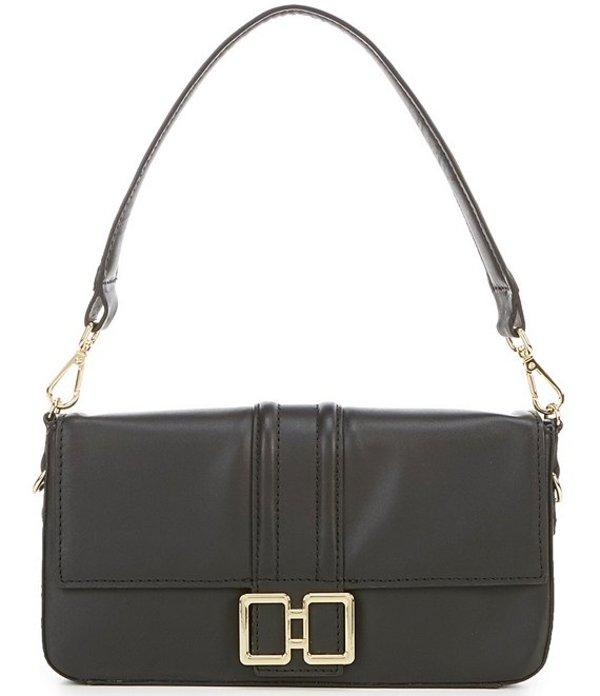 アントニオ メラーニ レディース ショルダーバッグ バッグ Baguette Small Leather Convertible Shoulder Crossbody Bag Black