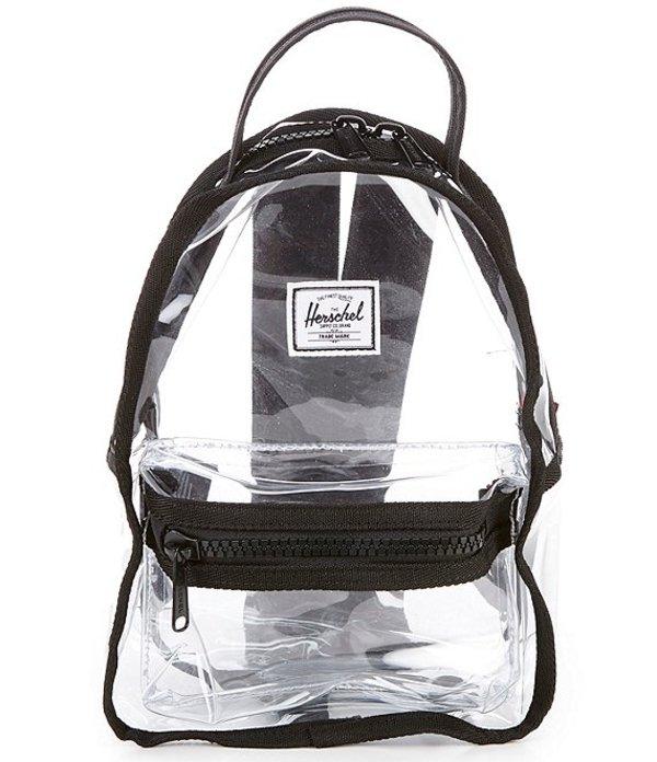 ハーシェルサプライ レディース バックパック・リュックサック バッグ Nova Clear Plastic Exposed Zipper Color Trim Mini Backpack Black