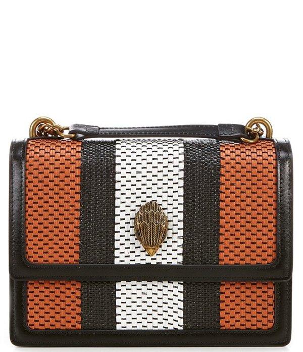 カートジェイガー レディース ショルダーバッグ バッグ Shoreditch Striped Crossbody Bag Rust Combo