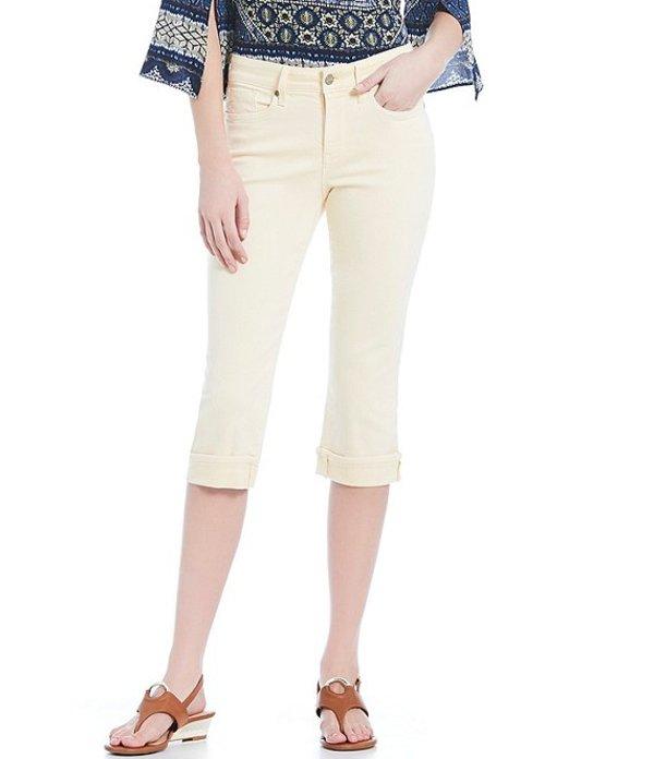 エヌワイディージェイ レディース デニムパンツ ボトムス Petite Size Marilyn Cuffed Capri Jeans Marigold