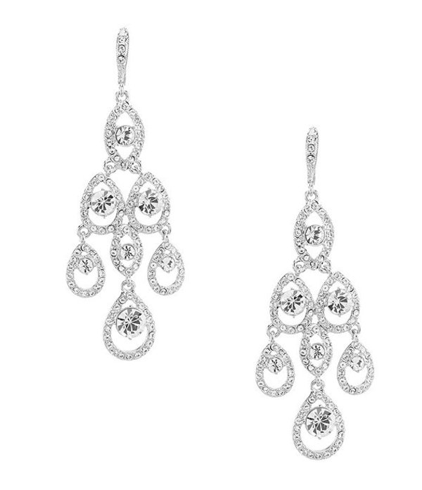 ジバンシー レディース ピアス・イヤリング アクセサリー Crystal Chandelier Statement Earrings Rhodium