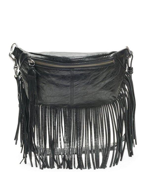 フライ レディース ショルダーバッグ バッグ Sacha Italian Leather Fringe Belt Bag Black