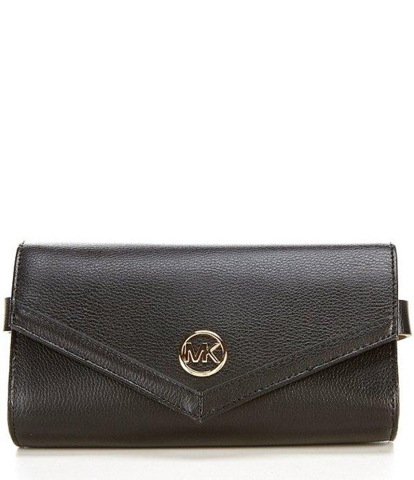 マイケルコース レディース ショルダーバッグ バッグ MICHAEL Michael Kors 0.75#double; Leather Belt Bag Black