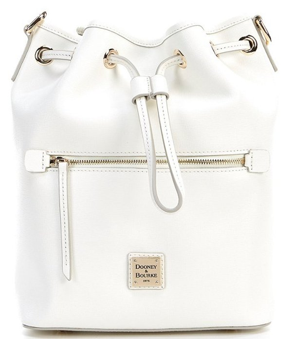 ドーネイアンドバーク レディース ショルダーバッグ バッグ Saffiano Collection Drawstring Bucket Bag Off White