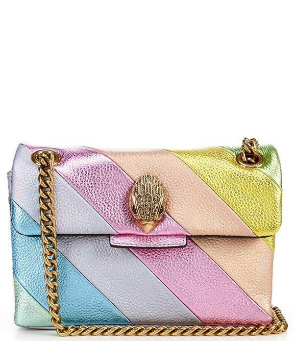 カートジェイガー レディース ショルダーバッグ バッグ Kensington Pastel Rainbow Mini Shoulder Bag Light Pastel Blue