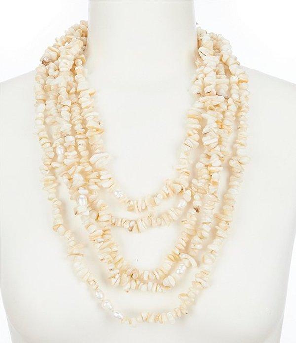 ナターシャ アクセサリー レディース ネックレス・チョーカー アクセサリー Chipped Pearl and Shell Necklace Ivory