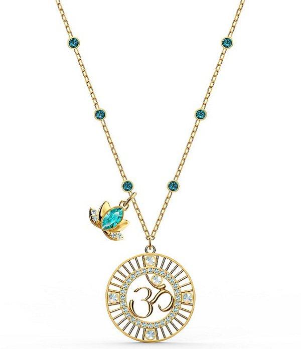 スワロフスキー レディース ネックレス・チョーカー アクセサリー Symbolic Lotus Pendant Necklace Gold