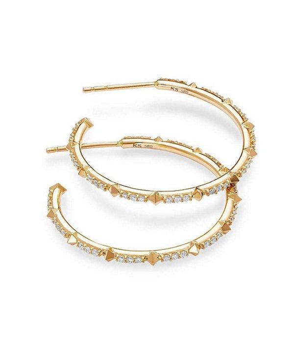 ケンドラスコット レディース ピアス・イヤリング アクセサリー Cybil 14k Gold Earrings In White Diamond 14k Yellow Gold