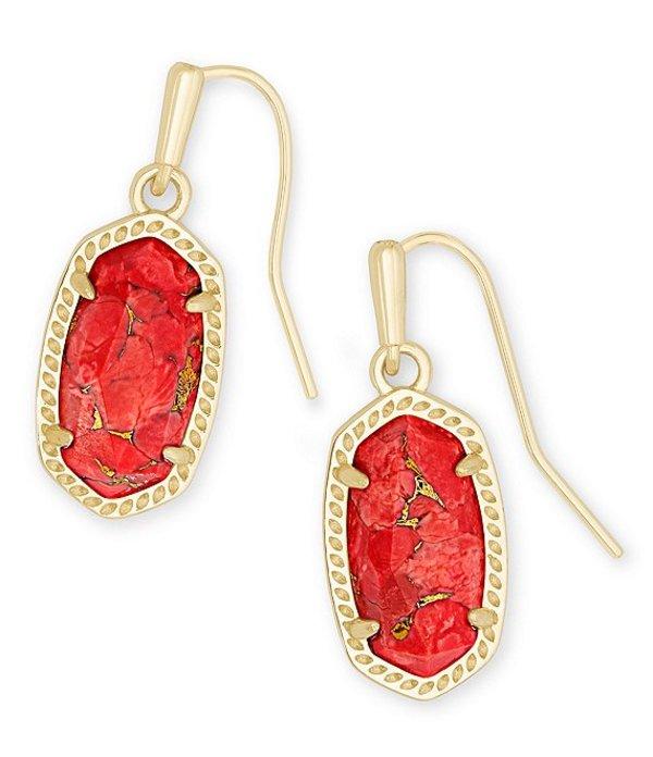 ケンドラスコット レディース ピアス・イヤリング アクセサリー Lee Gold Drop Earrings Bronze Veined Red Magnesite