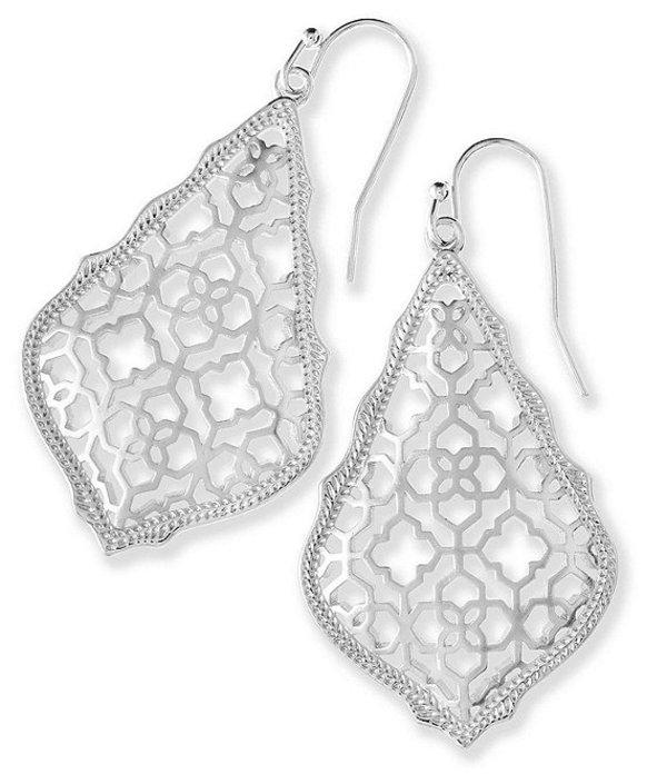 ケンドラスコット レディース ピアス・イヤリング アクセサリー Addie Drop Earrings In Filigree Silver Plated