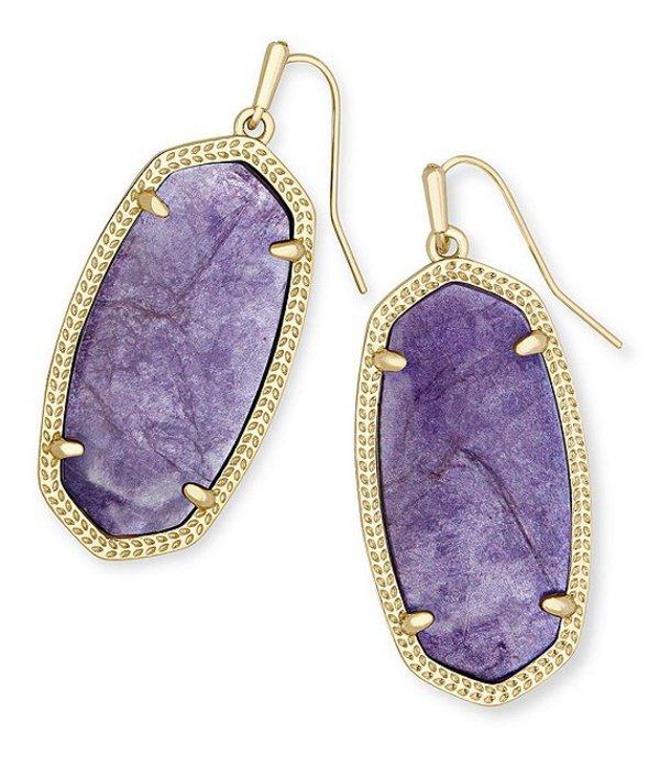 ケンドラスコット レディース ピアス・イヤリング アクセサリー Elle Gold Drop Earrings Purple Mica