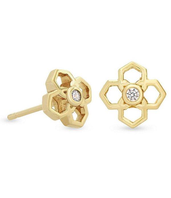 送料無料 サイズ交換無料 ケンドラスコット レディース アクセサリー ピアス イヤリング 14k Stud Rue ディスカウント Plated Gold Earrings 在庫一掃売り切りセール
