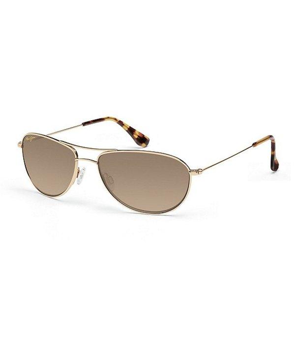 マウイジム レディース サングラス・アイウェア アクセサリー Baby Beach PolarizedPlus2R Aviator 56mm Sunglasses Gold