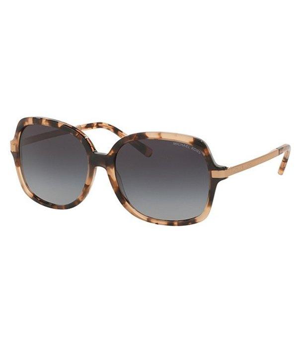 マイケルコース レディース サングラス・アイウェア アクセサリー Adrianna II Oversized Square Sunglasses Pink Tortoise