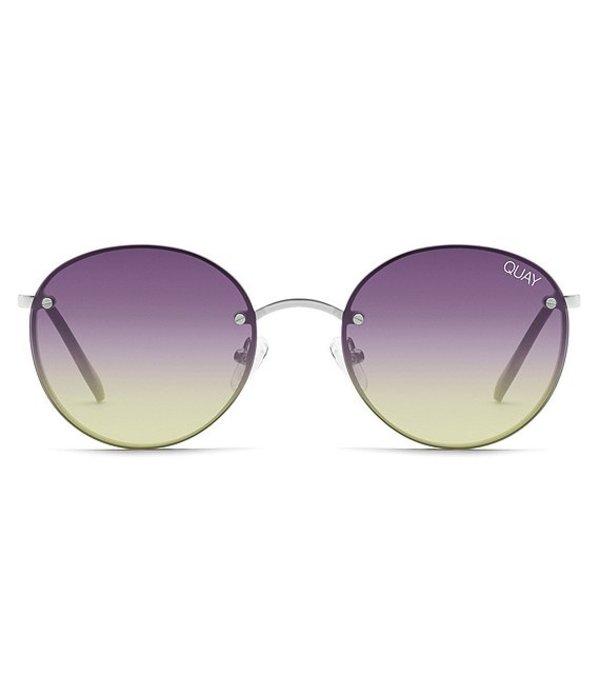 クアイオーストラリア レディース サングラス・アイウェア アクセサリー Farrah Round Sunglasses Silver/Purple/Pink/Yellow