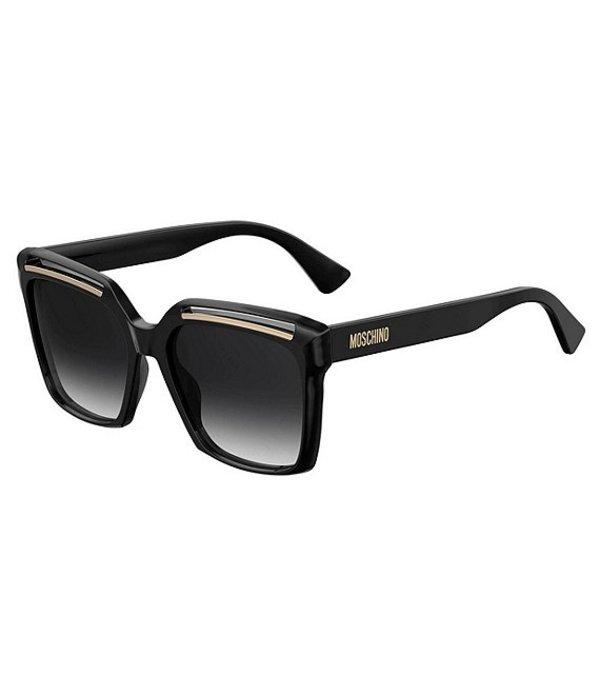モスキーノ レディース サングラス・アイウェア アクセサリー Square Oversized Sunglasses Black