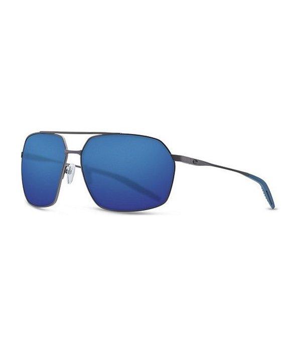 コスタ メンズ サングラス・アイウェア アクセサリー Pilothouse Polarized Sunglasses Gunmetal Blue Mirror