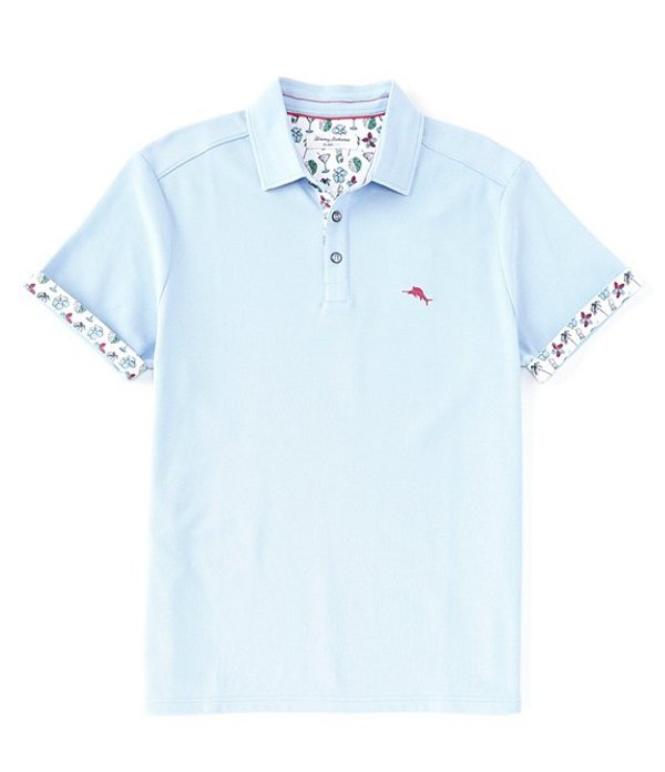 トッミーバハマ メンズ シャツ トップス Big & Tall IslandZone Five O'Clock Fiesta Short-Sleeve Polo Shirt Light Sky