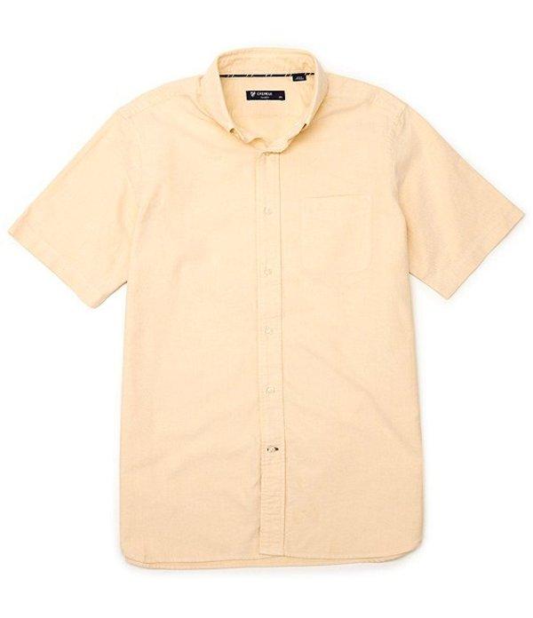 ダニエル クレミュ メンズ シャツ トップス Big & Tall Solid Oxford Short-Sleeve Woven Shirt Yellow