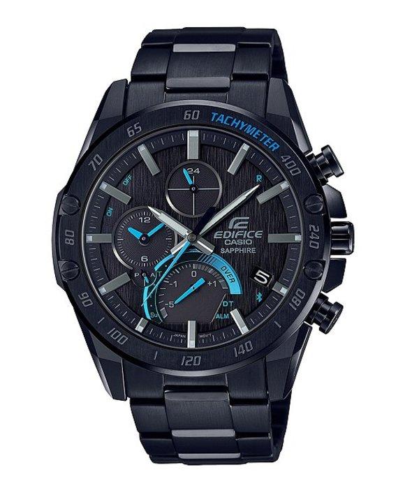 ジーショック メンズ 腕時計 アクセサリー Edifice Black Stainless Steel Tough Solar Watch Black