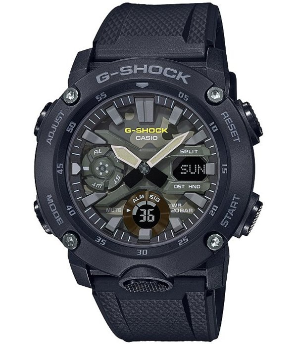 ジーショック メンズ 腕時計 アクセサリー Camo Dial Ana-Digi Resin Watch Black
