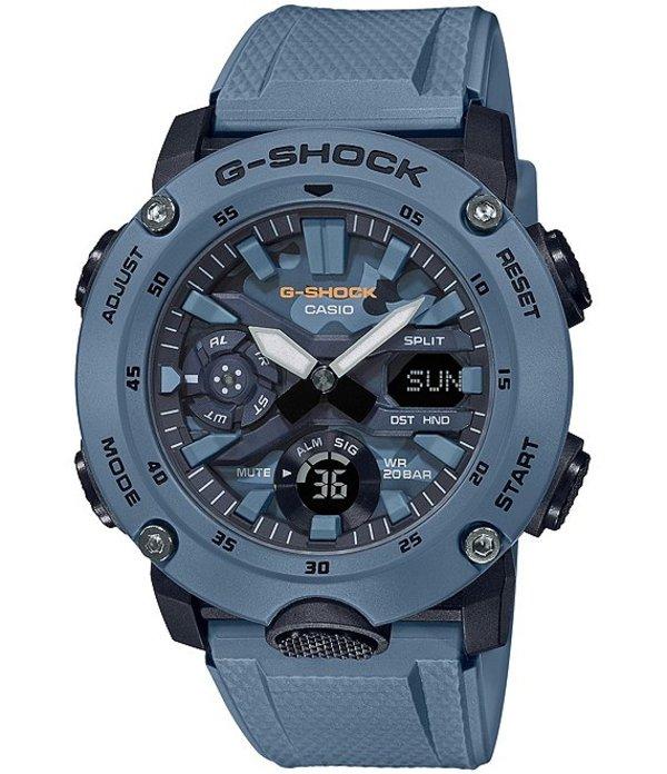 ジーショック メンズ 腕時計 アクセサリー Blue Camo Dial Ana-Digi Resin Watch Blue
