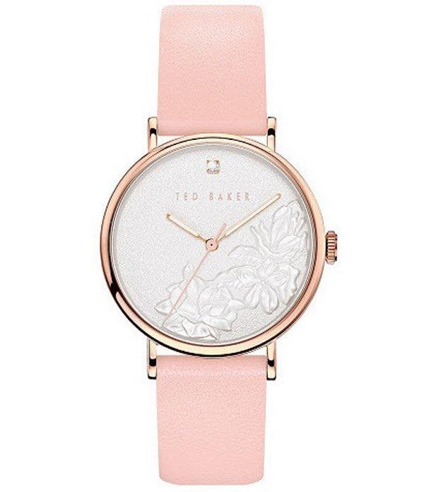 テッドベーカー レディース 腕時計 アクセサリー Phylipa Pink Embossed Flower Three-Hand Watch Pink